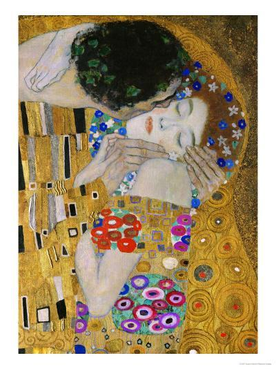 The Kiss, Der Kuss, Close-Up of Heads-Gustav Klimt-Giclee Print