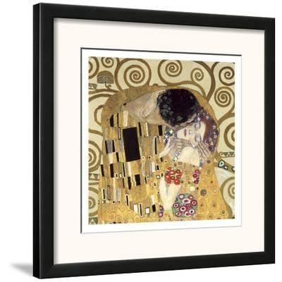 The Kiss (detail)-Gustav Klimt-Framed Art Print