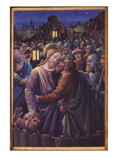 The Kiss of Judas, End of 15th Century (Vellum)-Jean Bourdichon-Giclee Print