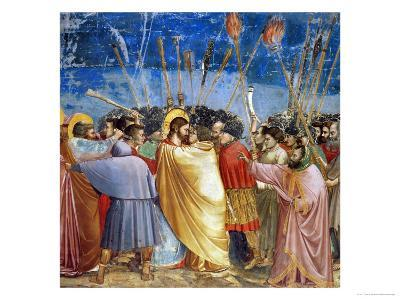 The Kiss of Judas, Mural-Giotto di Bondone-Giclee Print