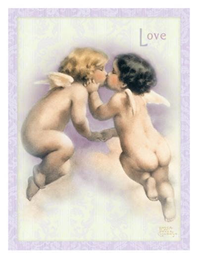 The Kiss-Bessie Pease Gutmann-Giclee Print