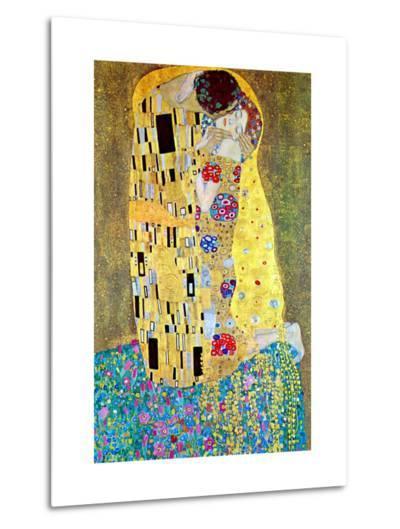 The Kiss-Gustav Klimt-Metal Print