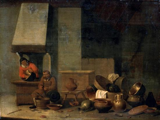 The Kitchen, 17th Century--Giclee Print