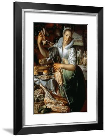 The Kitchen Maid circa 1620-25-Joachim Wtewael Or Utewael-Framed Giclee Print