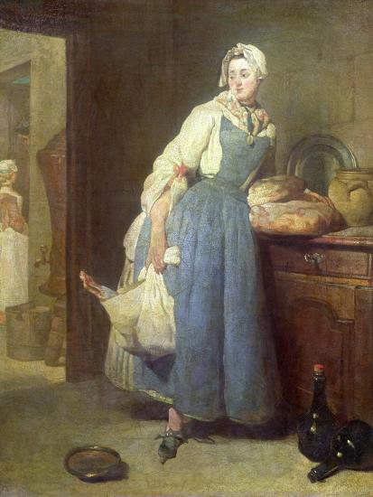The Kitchen Maid with Provisions, 1739 Giclee Print by Jean-Baptiste on house maid, kitchen uniform, kitchen plumber, kitchen wench, kitchen lady, kitchen italian, kitchen chef, kitchen cooking, kitchen daughter, kitchen office, kitchen school, kitchen beach, kitchen vintage, kitchen cleaner, kitchen servant, kitchen shower, parlour maid, kitchen french, kitchen cabinets, kitchen cartoon, laundry maid,