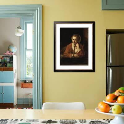 Details about  /Rembrandt The Kitchen Maid Art Print Framed 12x16