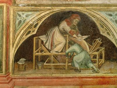 The Knife Grinder, from 'The Working World' cycle after Giotto, c.1450-Nicolo & Stefano Da Ferrara Miretto-Giclee Print