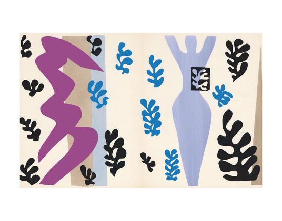 The Knife Thrower, pl. XV from Jazz, c.1943-Henri Matisse-Art Print