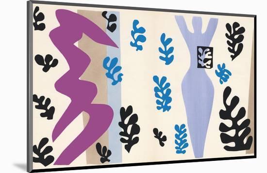The Knife Thrower, pl. XV from Jazz, c.1943-Henri Matisse-Mounted Art Print