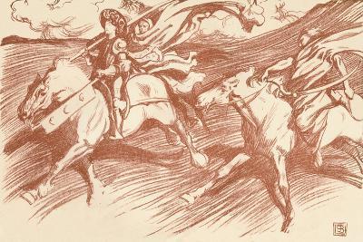 The Knight and His Companions, C1898-John Byam Liston Shaw-Giclee Print