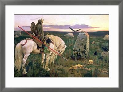 /'A Knight at the Crossroads/' 1898 Print 61x91.5cm Viktor Vasnetsov