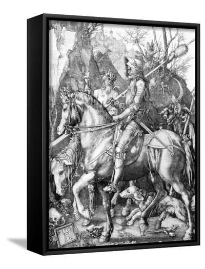 The Knight, Death and The Devil , c.1514-Albrecht D?rer-Framed Canvas Print