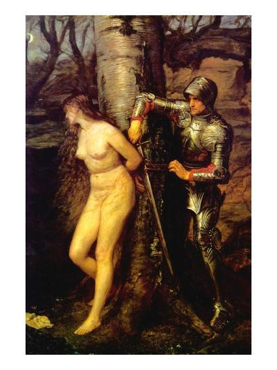 The Knight Errant-John Everett Millais-Art Print