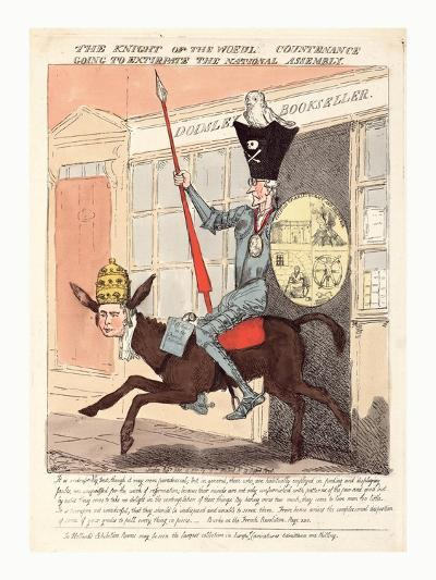 The Knight of the Woeful Countenance Going to Extirpate the National Assembly--Giclee Print