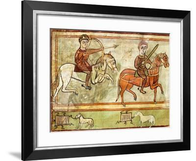 The Knights of the Apocalypse, Miniature from Revelation from Saint Amand's Abbey--Framed Giclee Print