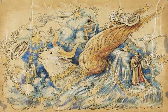The Koran 1910 New Orleans Float Designs-Jennie Wilde-Giclee Print