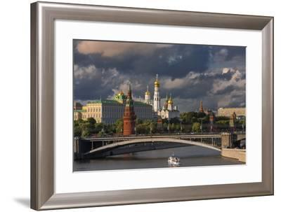 The Kremlin and Moscow River.-Jon Hicks-Framed Photographic Print