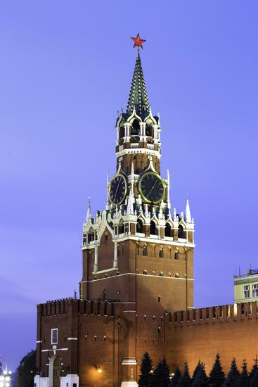 The Kremlin Clocktower in Red Square, Moscow, Russia-Gavin Hellier-Photographic Print