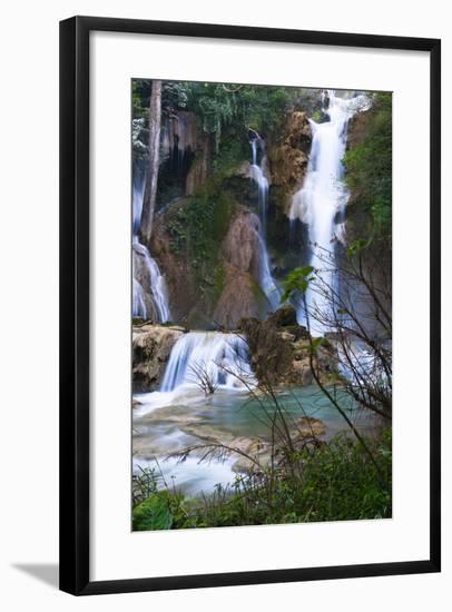 The Kuang Si Waterfalls Just Outside of Luang Prabang, Laos-Micah Wright-Framed Photographic Print
