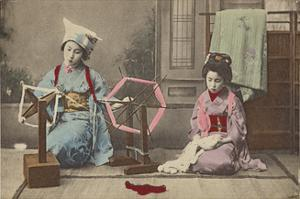 Maiko at the Spinning Wheel by The Kyoto Collection