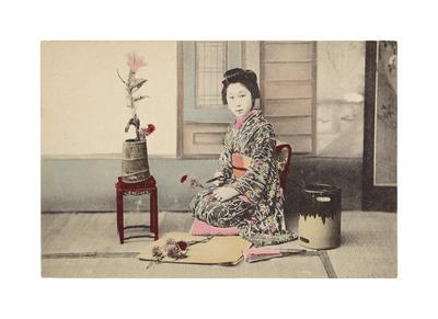 Portrait of Japanese Young Woman