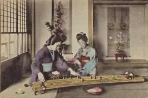 Women Playing the Koto by The Kyoto Collection
