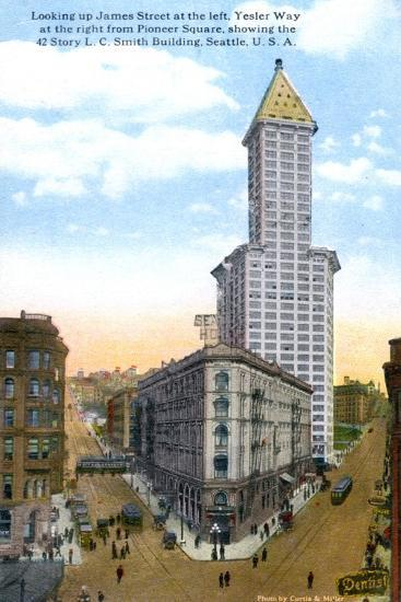 The L.C. Smith Tower, Seattle, U.S.A., C1910S-Curtis & Miller-Giclee Print