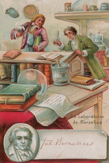 The Laboratory of Berzelius--Giclee Print