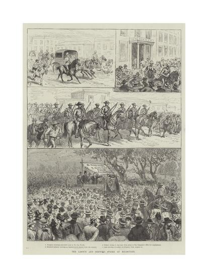 The Labour and Shipping Strike at Melbourne--Giclee Print