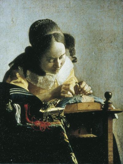 The Lacemaker-Johannes Vermeer-Art Print