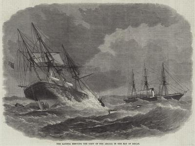 The Laconia Rescuing the Crew of the Amalia in the Bay of Biscay--Giclee Print