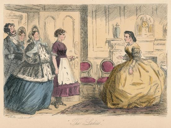 'The Ladies', 1865-John Leech-Giclee Print