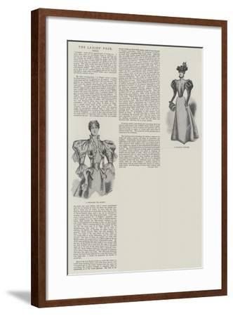 The Ladies' Page, Dress--Framed Giclee Print