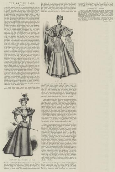 The Ladies' Page, Dress--Giclee Print