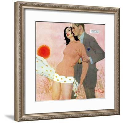 """The Lady and the Landlord - Saturday Evening Post """"Leading Ladies"""", June 1, 1957 pg.21-Coby Whitmore-Framed Giclee Print"""