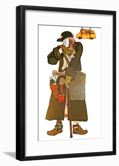 The Lady and the Van-Carol Walklin-Framed Giclee Print