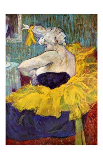 The Lady Clown Cha-U-Kao-Henri de Toulouse-Lautrec-Giclee Print