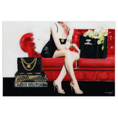 The Lady - Free Floating Tempered Glass Panel Graphic Wall Art