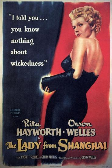 The Lady From Shanghai, Rita Hayworth, Directed by Orson Welles, 1947--Giclee Print