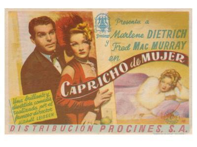 The Lady Is Willing, Spanish Movie Poster, 1942--Art Print