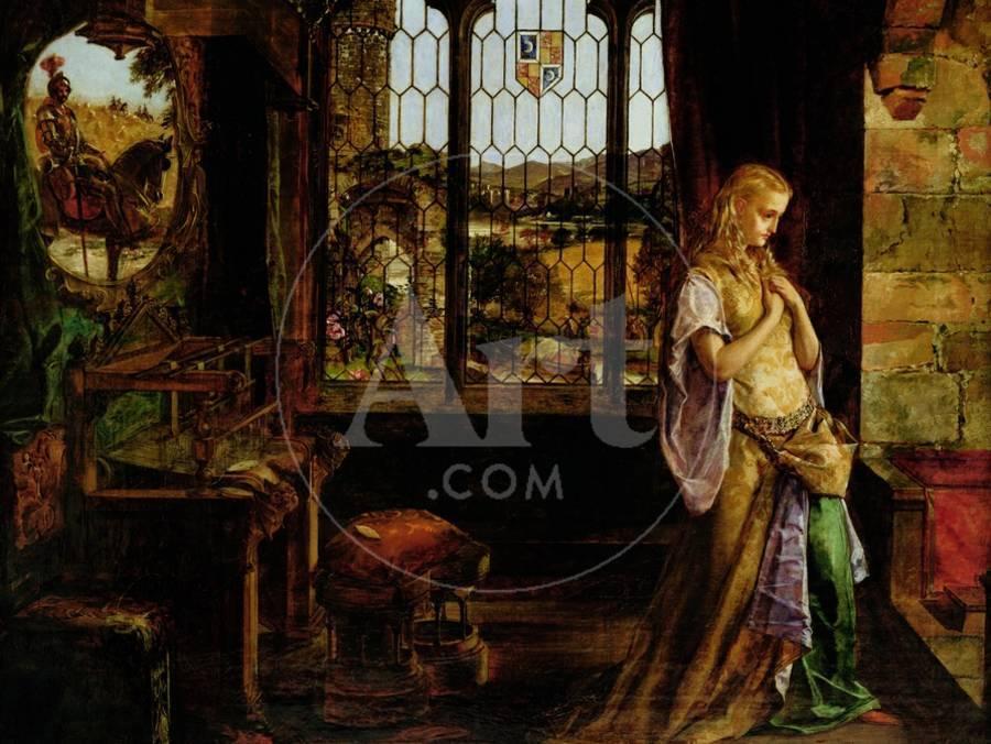 The Lady Of Shalott 1858 Giclee Print By William Maw Egley Art