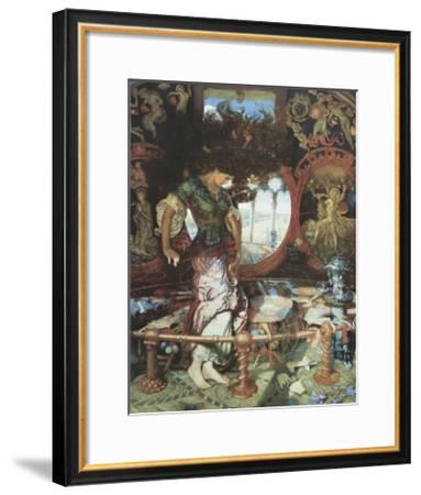 The Lady of Shalott. c.1889-92-William Holman Hunt-Framed Art Print