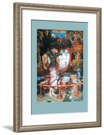 The Lady of Shalott-William Holman Hunt-Framed Art Print