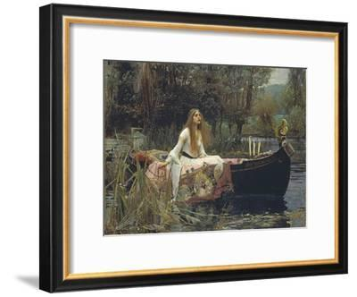 The Lady of Shalott-John William Waterhouse-Framed Giclee Print