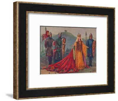 'The Lady of the English, 1141', 1926-Herbert Norris-Framed Giclee Print