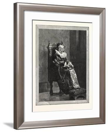 The Lady of the Grange, Picture of T. Walter Wilson in the Dudley Gallery, 1876--Framed Giclee Print
