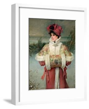 The Lady of the Snows, C.1896-George Henry Boughton-Framed Giclee Print