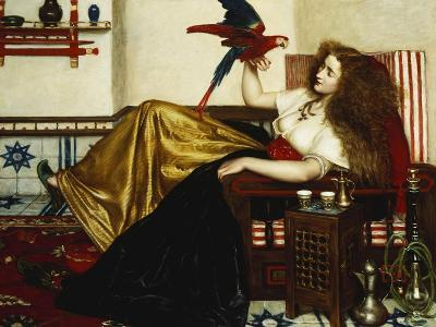 The Lady of the Tootni-Nameh; or the Legend of the Parrot-Valentine Cameron Prinsep-Giclee Print