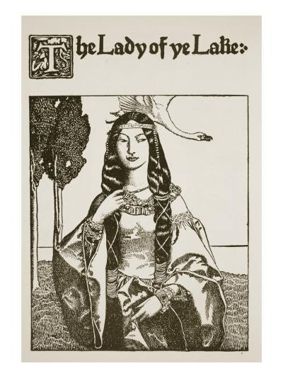 The Lady of Ye Lake, Illustration from 'The Story of King Arthur and His Knights', 1903-Howard Pyle-Giclee Print