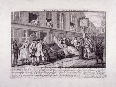 The Lady's Disaster, 1747-John June-Giclee Print